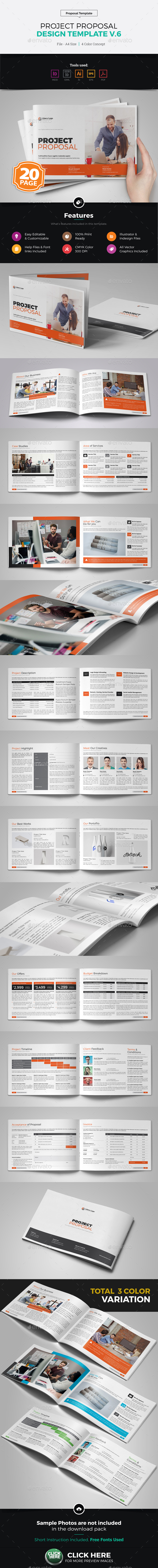 Project Proposal Design v6 - Proposals & Invoices Stationery