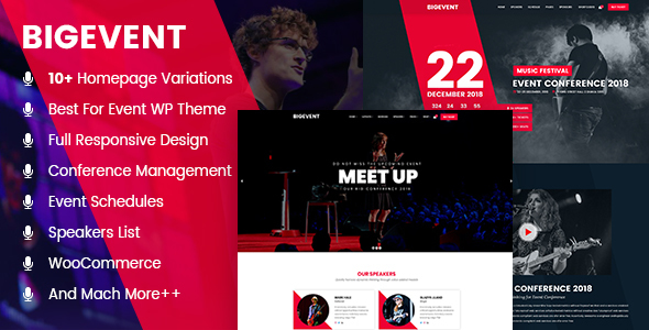 Image of BigEvent- Conference Event WordPress Theme