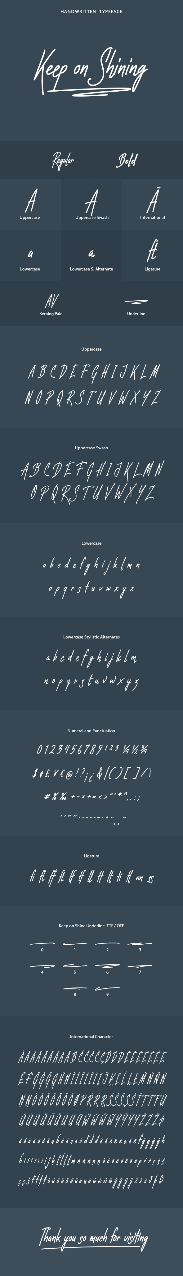 Keep on Shining Font - Hand-writing Script
