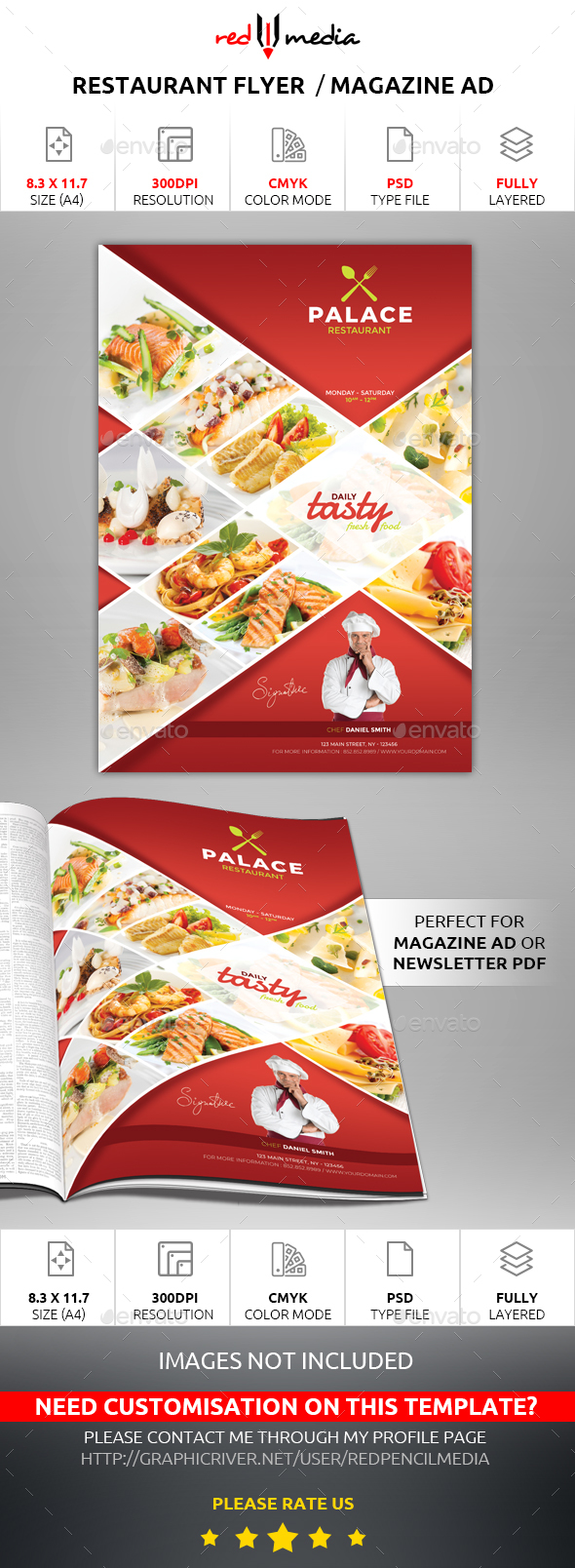 Restaurant Flyer / Magazine AD - Restaurant Flyers