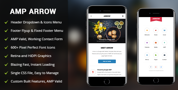 AMP Arrow | Mobile Google AMP Template