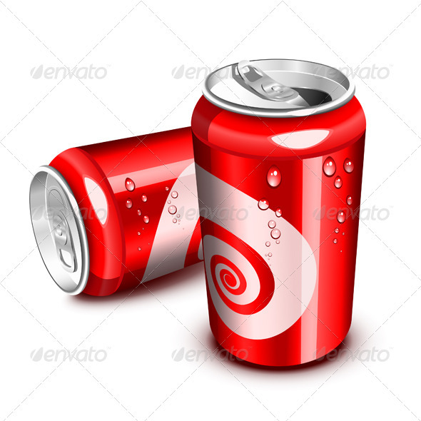 Red Cola cans - Food Objects