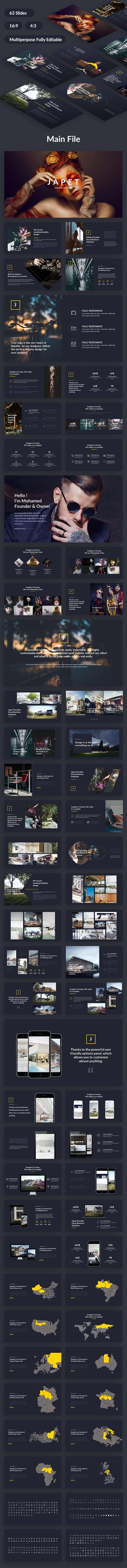 Japet Creative Design Google Slide Template - Google Slides Presentation Templates