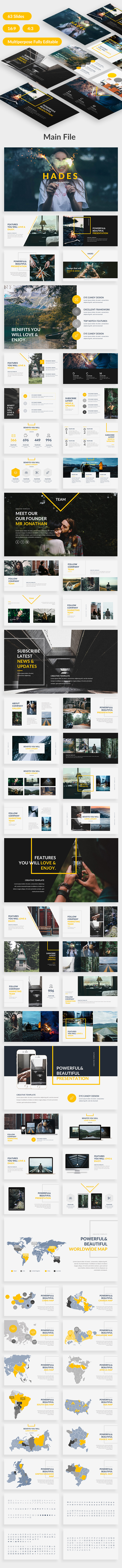 Hades Creative Google Slide Template - Google Slides Presentation Templates