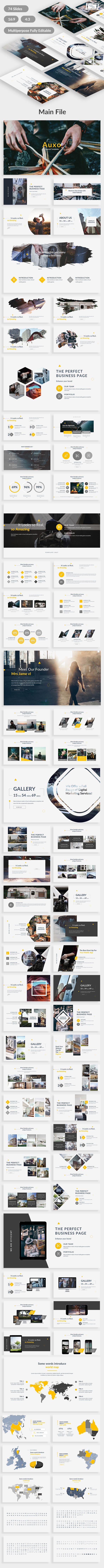 Auxo Premium Multipurpose Google Slide Template - Google Slides Presentation Templates