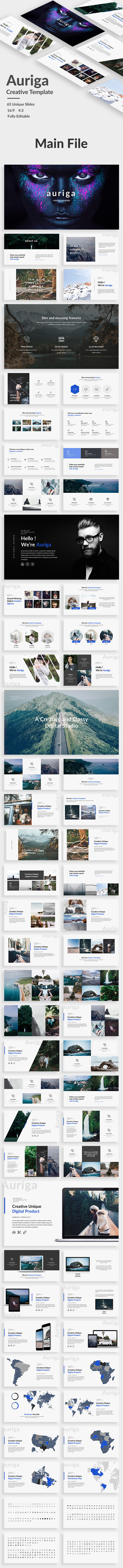 Auriga Creative Google Slide Template - Google Slides Presentation Templates