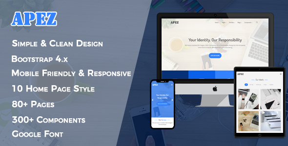APEZ - Responsive Multi-Purpose HTML5 Template