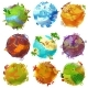 Cartoon Earth Planets Set