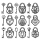 Vintage Antique Old Locks Set