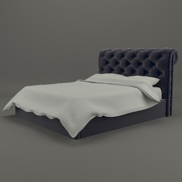 Elegant chesterfield bed - 3DOcean Item for Sale