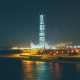 Panorama to the Lakhta Center at Night - VideoHive Item for Sale