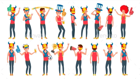 Sports Fan Vector - Sports/Activity Conceptual