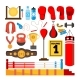 Boxing Equipment Tools Set Vector - GraphicRiver Item for Sale