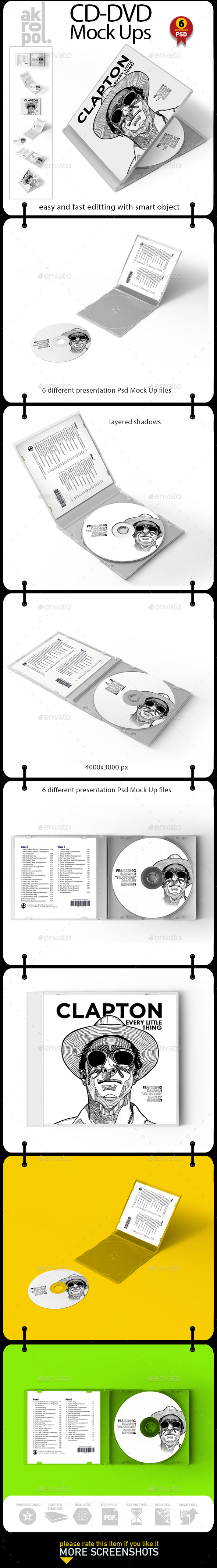 Cd - Dvd Mock Up - Product Mock-Ups Graphics