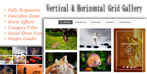 Responsive Grid Gallery - Horizontal and Vertical
