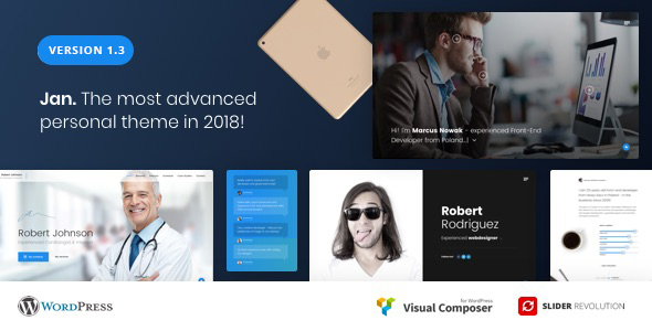 Jab - Advanced Personal Resume / CV vCard Theme - Portfolio Creative