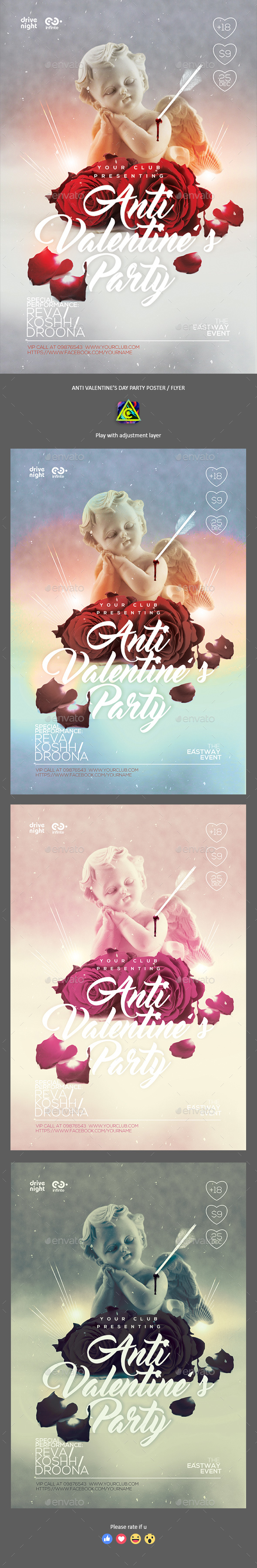 Valentine's Day Party Poster / Flyer - Clubs & Parties Events