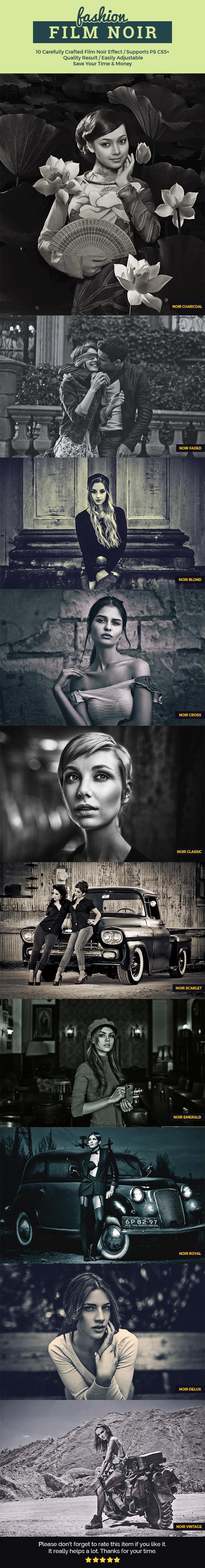Film Noir - Photo Effects Actions