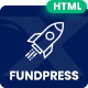 FundPress - Crowdfunding Startup Fundraising HTML5 Template - ThemeForest Item for Sale