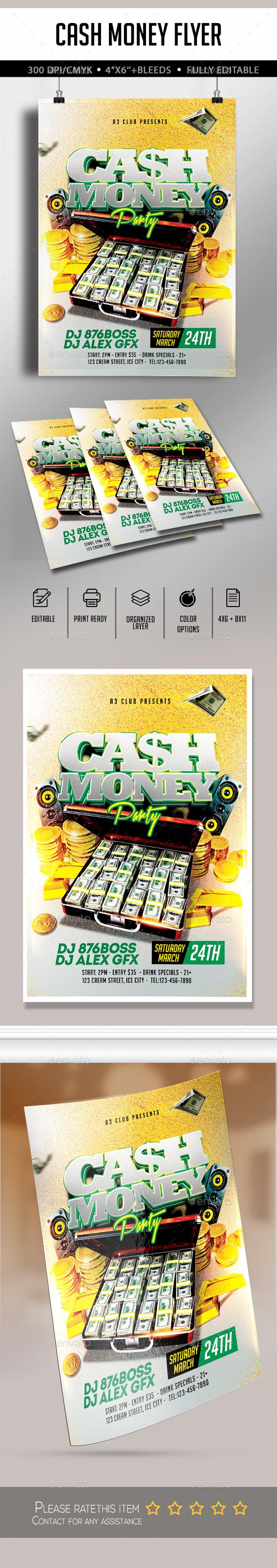 Cash Money Flyer - Flyers Print Templates