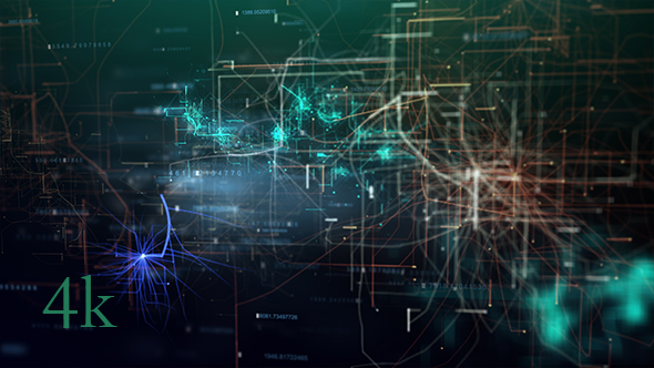 VideoHive Futuristic HUD Network Background 21250609
