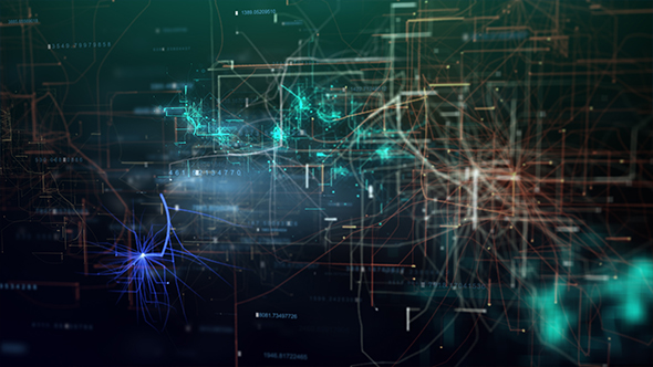 VideoHive Futuristic HUD Network Background 21250711