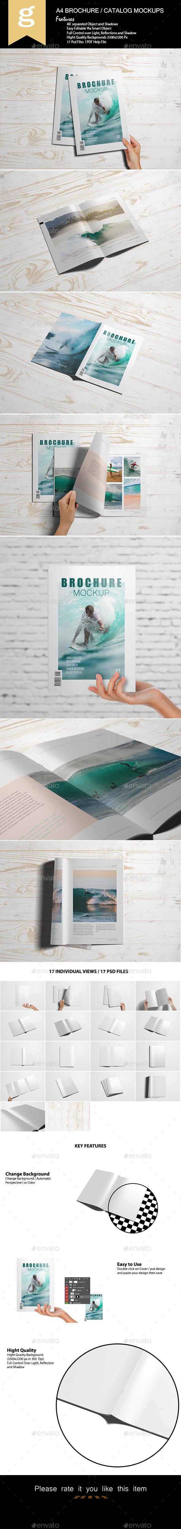 A4 Brochure / Catalog Mock-Up - Brochures Print