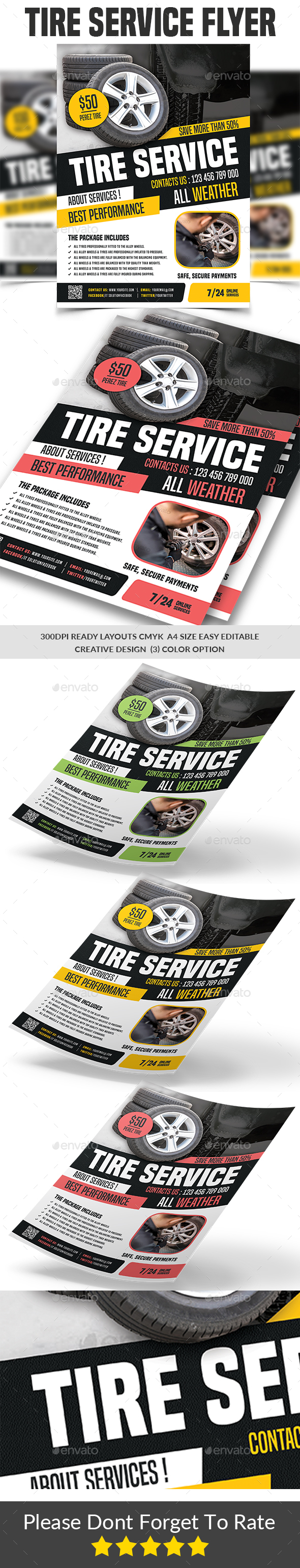 Tires Services Flyer Template - Corporate Flyers