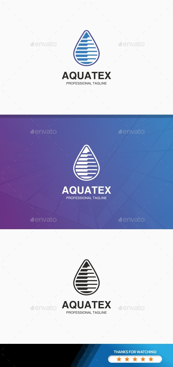 Water Drop Technology Logo - Abstract Logo Templates