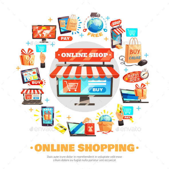 Buy Online Round Composition - Retail Commercial / Shopping