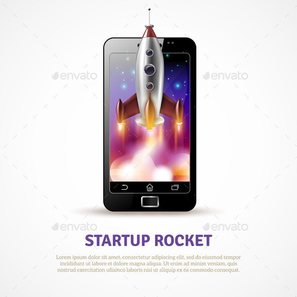 Rocket Startup Poster - Concepts Business