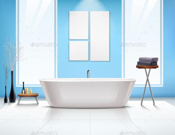 Bathroom Interior Composition - Miscellaneous Vectors