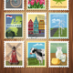 Holland Travel Stamps Set Poster