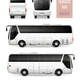 Touristic Bus Realistic Advertising Template