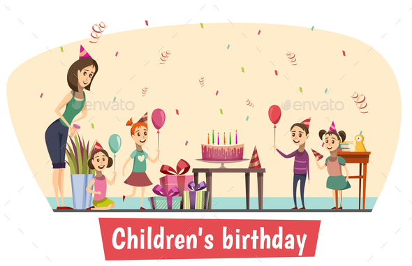 Birthday Celebration Composition - Birthdays Seasons/Holidays