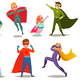 Kids Superheroes Retro Set