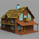 Wood House ( LowPoly ) - 3DOcean Item for Sale