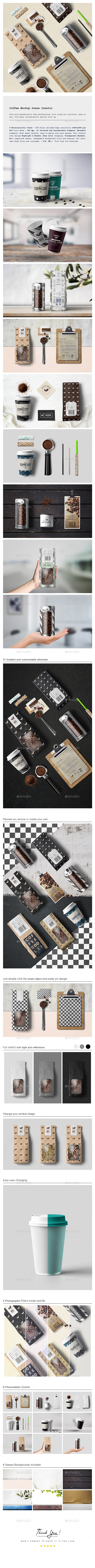 Coffee Mockup Scene Creator - Miscellaneous Packaging