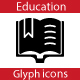 Education Glyph Flat icons