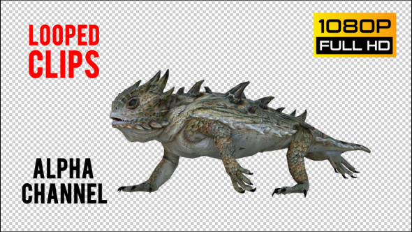 VideoHive Horn Lizard 2 Realistic Pack 4 21251295