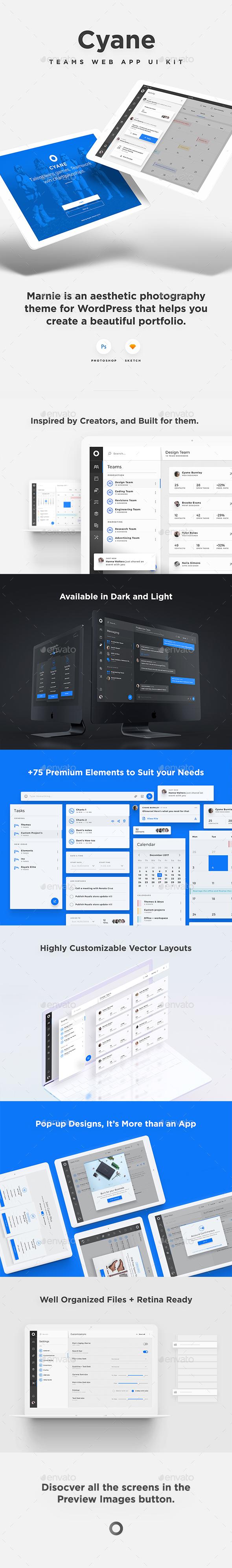 Cyane - Management Web App UI Kit - User Interfaces Web Elements