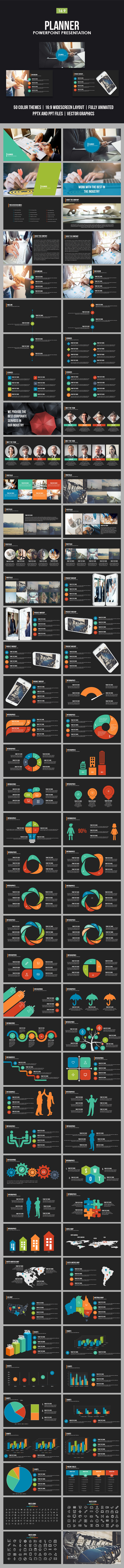 Planner Powerpoint Presentation Template - Business PowerPoint Templates