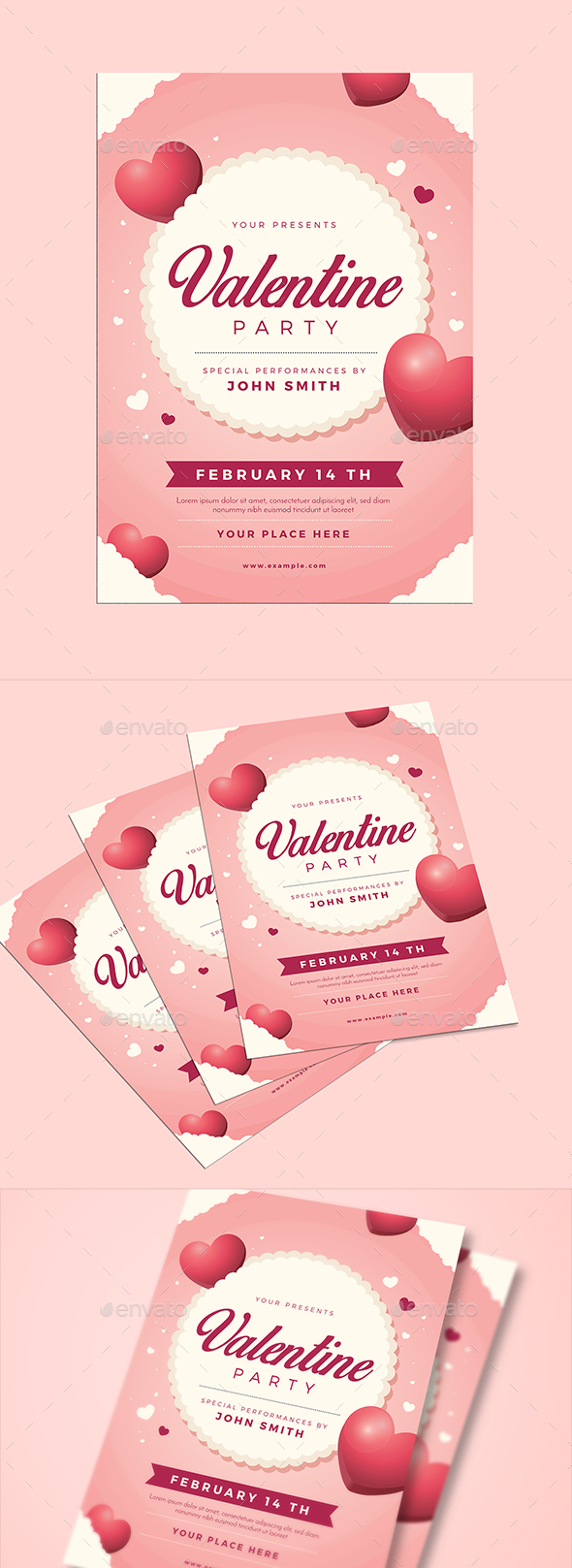 Valentine Event Flyer - Events Flyers