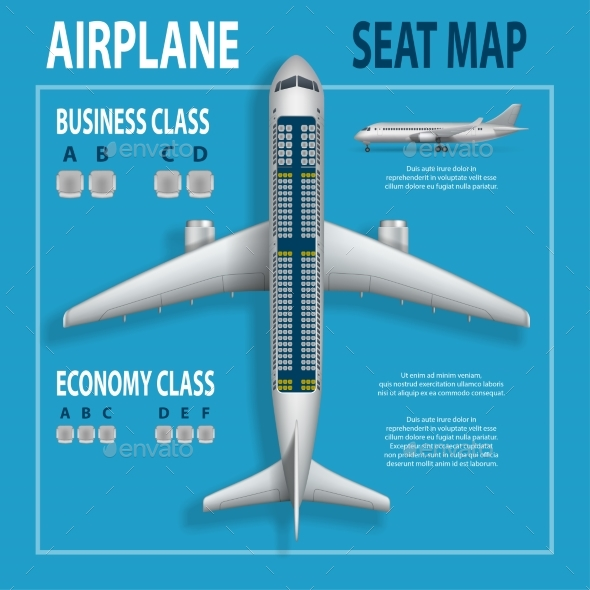 Flyer with Airplane Seats Plan - Man-made Objects Objects
