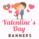Valentines Day Banner Set - GraphicRiver Item for Sale
