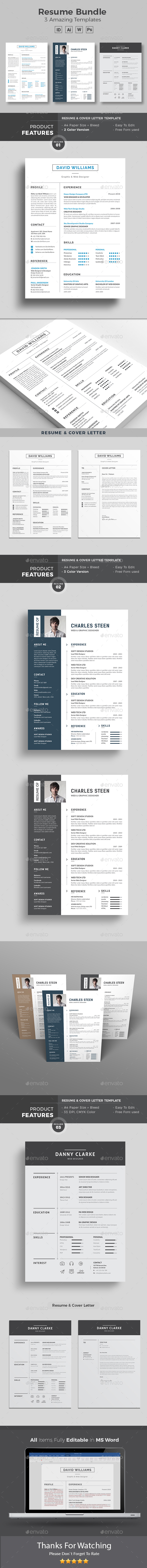 Resume Word Bundle - Resumes Stationery