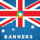 Australia Day Banner Set - GraphicRiver Item for Sale