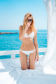 beautiful woman in white bikini - PhotoDune Item for Sale