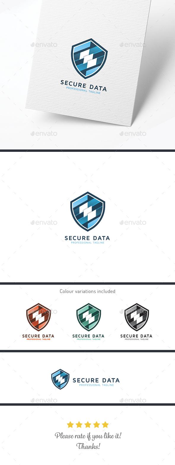 Secure Data - Symbols Logo Templates