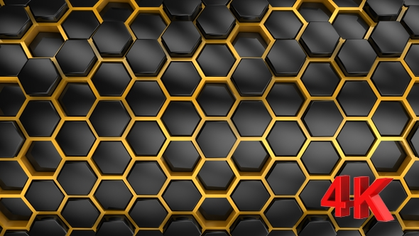 VideoHive Background From Hexagons 21252254